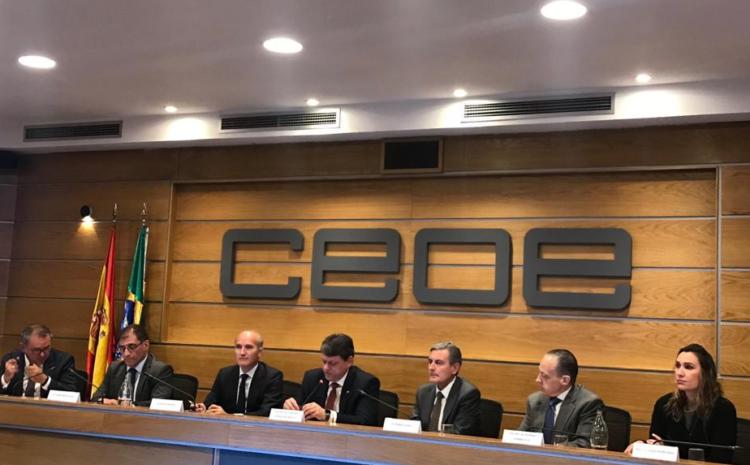"""La CCBE acude al """"Encuentro Empresarial Brasil-España"""" junto al Ministro de Infraestructuras de Brasil"""