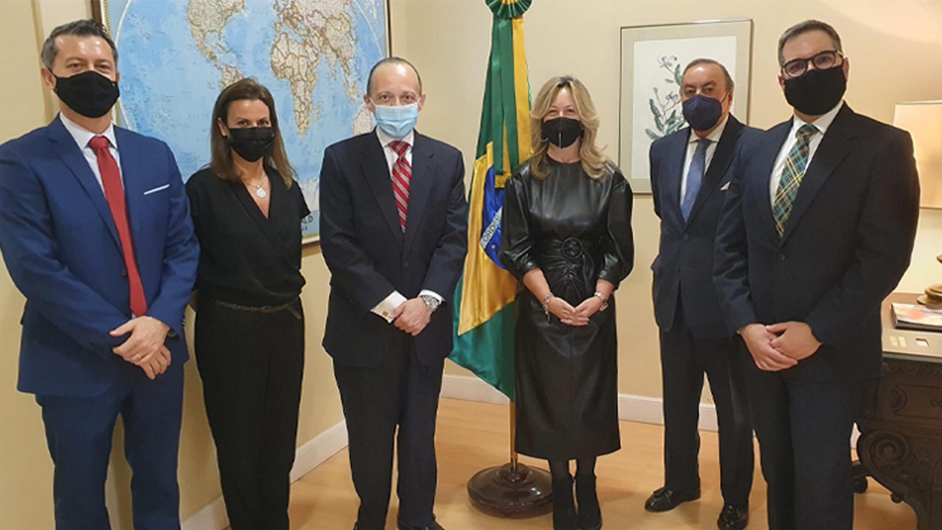 El embajador Pompeu Andreucci recibe la visita de la nueva presidenta de la CCBE